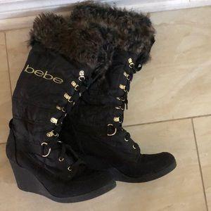 Bebe Black Winter Boots Size 8